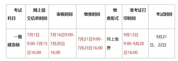 2019年贵州一级建造师考试准考证打印时间:9月13日-9月20日