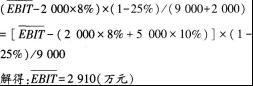 中级会计职称《财务管理》考练习卷及答案6