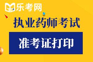2020年广东执业药师考试准考证打印时间